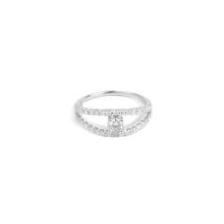 Bague Or Blanc 375 MISS YOU Diamants 0,49 carat