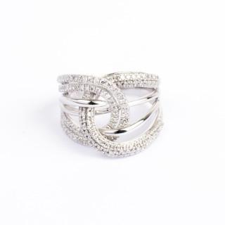Bague Or Blanc 375 ENTRELACS DE TENDRESSE Diamants 0,5 carat