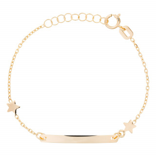 Bracelet gourmette or jaune enfant LITTLE