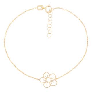 Bracelet or jaune fille FLEUR DORÉE