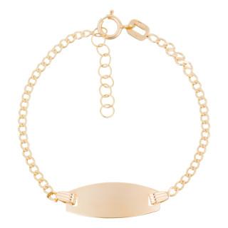 Bracelet gourmette or jaune enfant OVALE