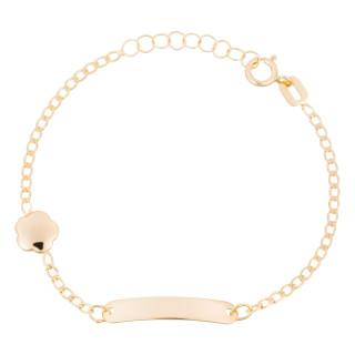 Bracelet gourmette or jaune enfant BARRE DORÉE