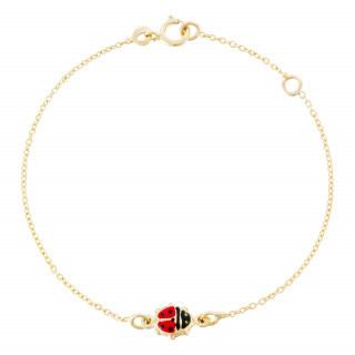 Bracelet or jaune enfant  HAPPY COCCINELLE