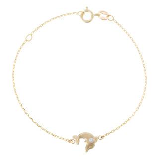 Bracelet or jaune enfant JOYEUX DAUPHIN