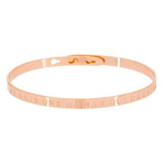 JE SUIS UNE MAMAN QUI DÉCHIRE bracelet jonc rosé à message