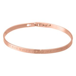 FRIENDSHIP NEVER ENDS bracelet jonc rosé à message