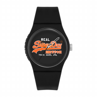 Montre Unisexe Superdry URBAN ORIGINAL Analogique Cadran noir Bracelet silicone noir