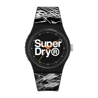 Montre Unisexe Superdry URBAN ETCH en silicone noir à motifs