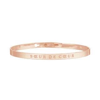 SOEUR DE COEUR Jonc rosé bracelet à message