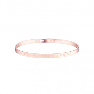 UNE MAÎTRESSE EN OR bracelet jonc rosé à message