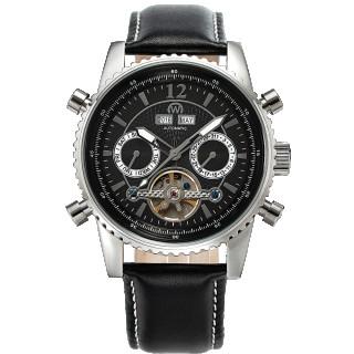 Montre Chronowatch BRUGGER Bracelet Cuir Noir - HF5230C1BC1