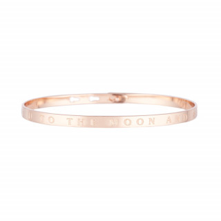 I LOVE U TO THE MOON AND BACK bracelet jonc rosé à message