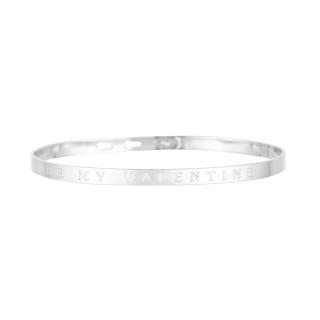 BE MY VALENTINE bracelet jonc argenté à message