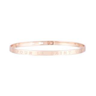 UN CALIN POUR LA SAINT VALENTIN bracelet jonc rosé à message