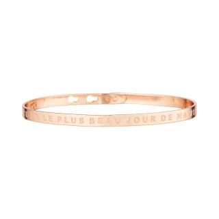 TU ES LE PLUS BEAU JOUR DE MA VIE bracelet jonc rosé à message