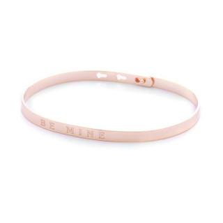 BE MINE bracelet jonc rosé à message