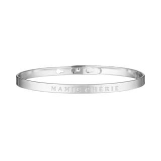MAMIE CHERIE bracelet jonc argenté à message
