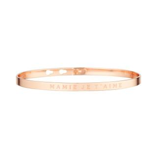 MAMIE JE T'AIME bracelet jonc rosé à message