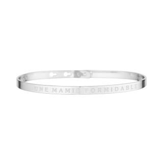 UNE MAMIE FORMIDABLE bracelet jonc argenté à message