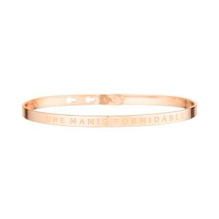 UNE MAMIE FORMIDABLE bracelet jonc rosé à message