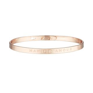 MAMIE D'AMOUR Jonc rosé bracelet à message