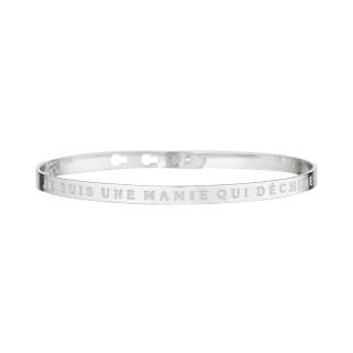 JE SUIS UNE MAMIE QUI DÉCHIRE bracelet jonc argenté à message