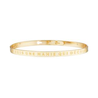 JE SUIS UNE MAMIE QUI DÉCHIRE bracelet jonc doré à message