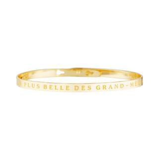 LA PLUS BELLE DES GRAND-MÈRES bracelet jonc doré à message