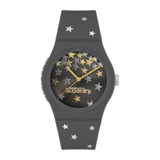 Montre Unisexe Superdry URBAN STAR en silicone marron à motifs