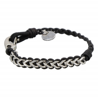 Bracelet Homme cuir et acier NODE