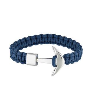 Bracelet Homme cordage nylon et ancre acier