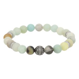 Bracelet Homme en perles de pierre et détail tribal