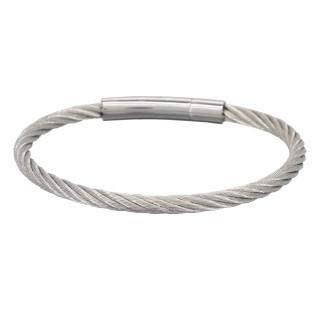 Bracelet Homme cable acier Fermoir ZACK