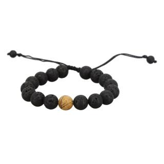 Bracelet Homme ajustable pierres volcaniques