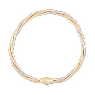 Bracelet Or Tricolore 375/1000