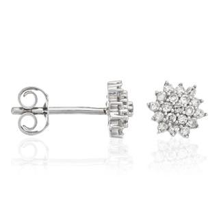 Boucles d'oreilles Or Blanc et Diamant