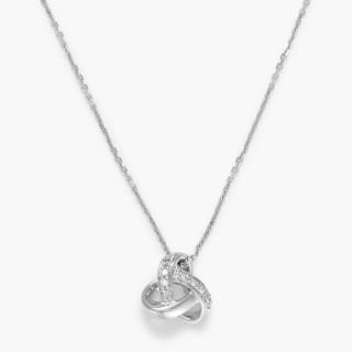Pendentif Or Blanc et Diamant