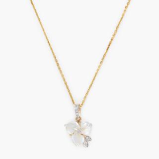 Pendentif Or Jaune Diamant et Nacre