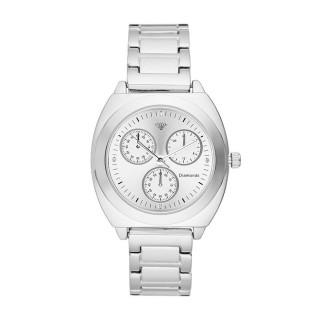 Montre Femme Lily Diamants 0,012 carats - Cadran blanc Bracelet métal argenté