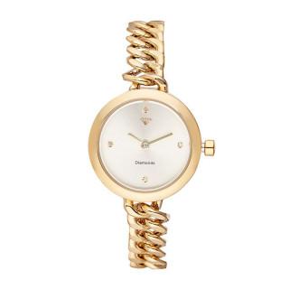 Montre Femme Kate Diamants 0,012 carats - Cadran blanc Bracelet métal doré