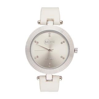 Muse - Montre Femme argenté Pleyel - boîtier argenté bracelet blanc