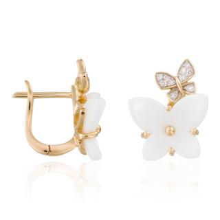 Boucles d'oreilles Or Jaune et Diamant