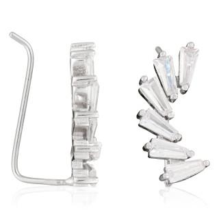 Boucles d'oreille Argent 925 et Zirconium