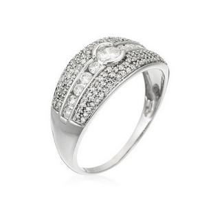 Bague Or Blanc 750 et Diamants