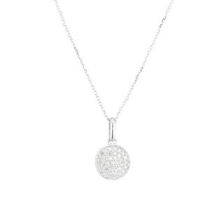 Pendentif Or Blanc 375 et Diamants