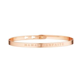 MAMAN PARFAITE bracelet jonc rosé à message