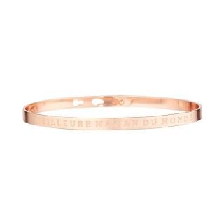 MEILLEURE MAMAN DU MONDE bracelet jonc rosé à message