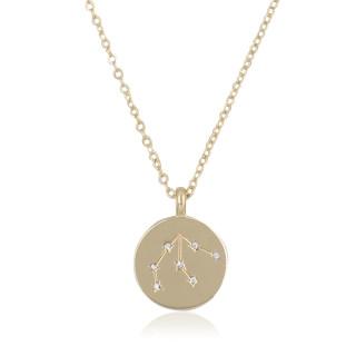 Collier médaille constellation VERSEAU