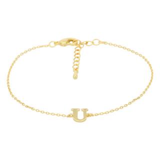 Bracelet Lettre U Doré