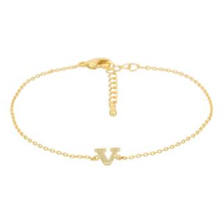 Bracelet Lettre V Doré